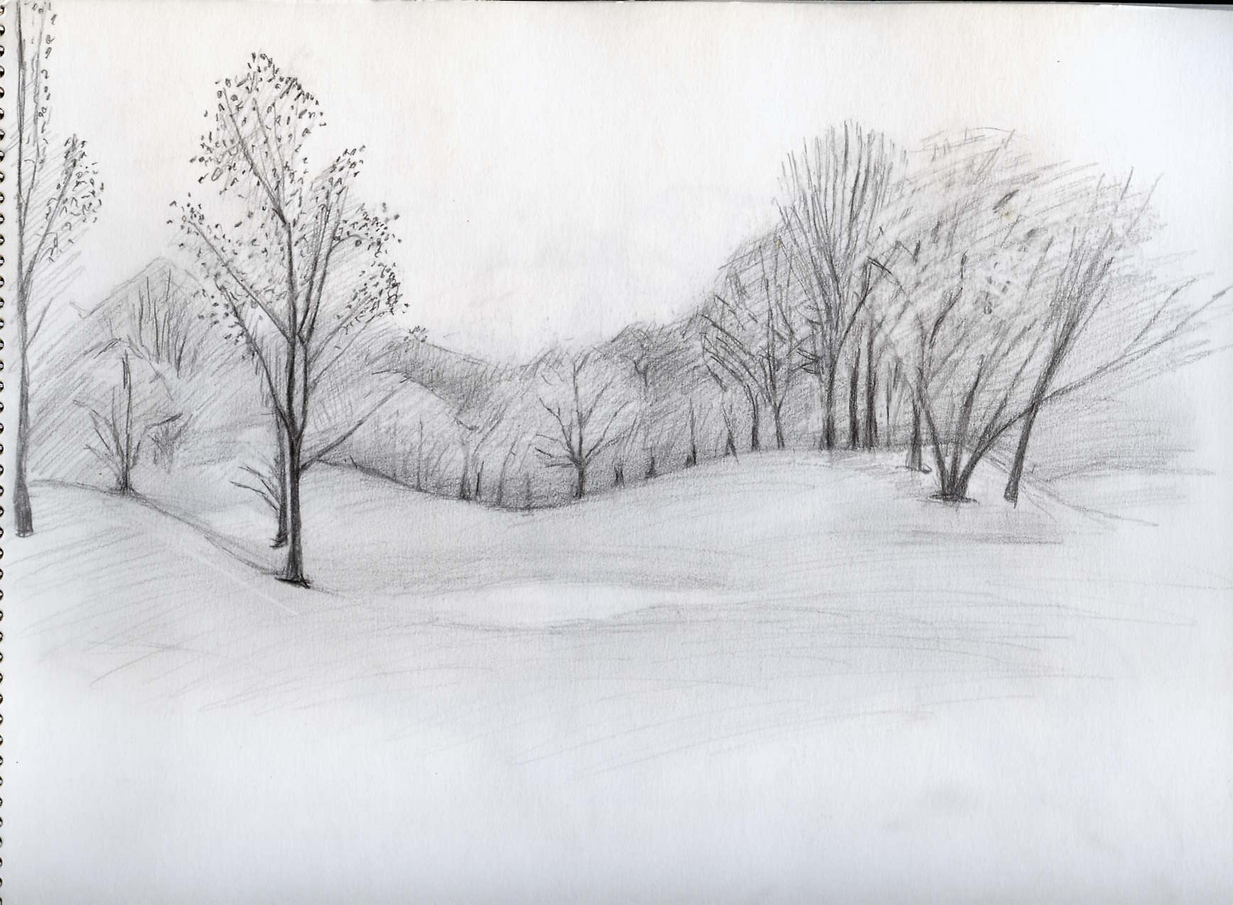 Charcoal Drawing Image Lovely Old Gate Into Countryside ...  |Charcoal Drawings Of Landscapes