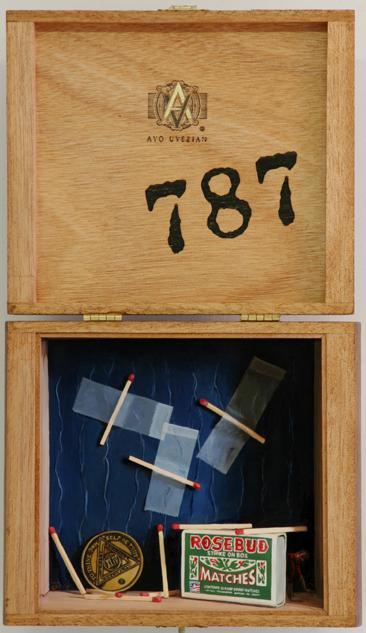 David Eichenberg, Intruder II, Oil on Panel Mounted in Cigar Box, 2009