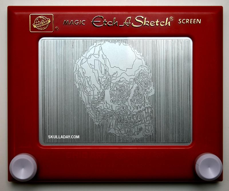 Etch-A-Sketch by Skulladay