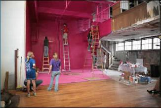 Georges Rousse Bending Space (in progress)