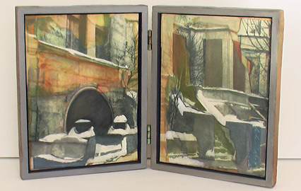 Kyle Gallup, Art Cave, 2005, Collage Cases