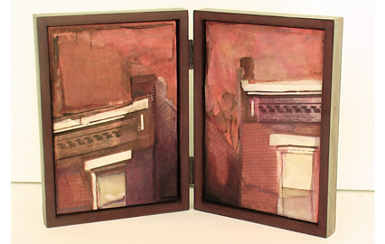 Kyle Gallup, City Window, 2002, Collage Case