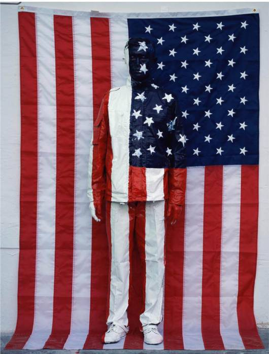 Liu Bolin Hiding in the City No. 62 American National Flag 2008