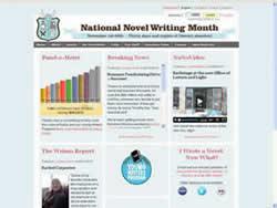 National Novel Writing Month (NANO) website