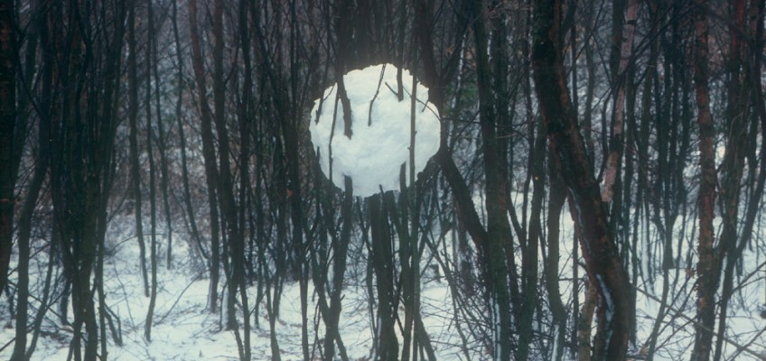 Andy Goldwworthy Snowball in Trees Yorkshire 1980