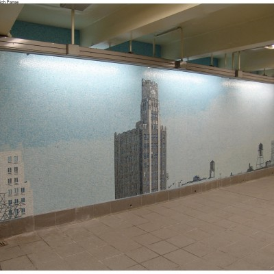 Ellen Harvey, Look Up Not Down, Queens Plaza