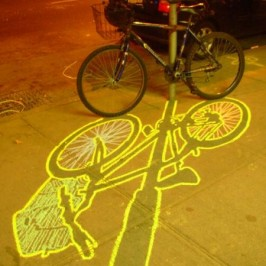 Ellis Gallagher – ephemeral graffiti from chalk outlined shadows