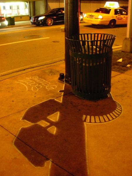 Ellis Gallgher, Don't Walk Sign and Garbage Can, Collins Ave., Miami Beach, FLA 2007