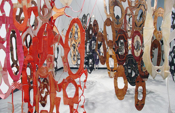 Jean Shin Hide, 2004 (recycled shoes)