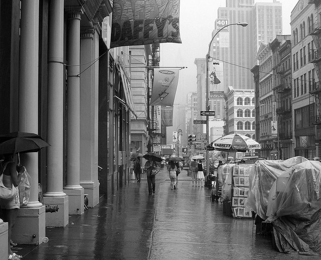 Rain on Broadway SOHO New York City by Tony the Misfit