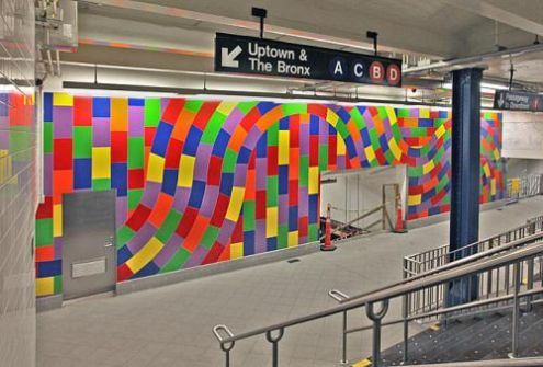 Sol Lewitt, Whirls and Twirls, NYC Columbus Circle 59th Street