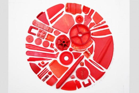 Steven McPherson Chromatic Sampler (Red Detail) 2009 (plastic ocean debris)