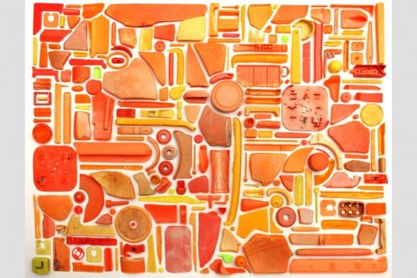 Steven McPherson Combination Piece (Orange No2) 2009 (plastic ocean debris)