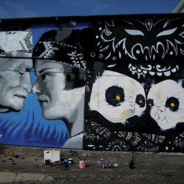 Graffiti artist Ouch leaves her mark on New Zealand