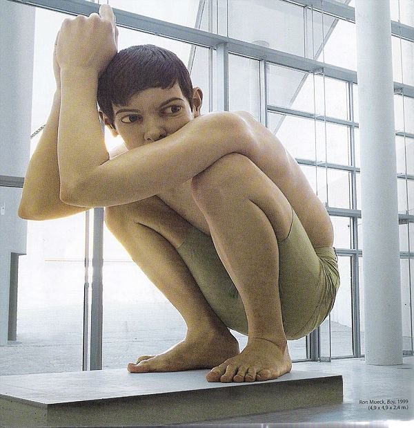 Hyperrealist sculptures by Ron Mueck