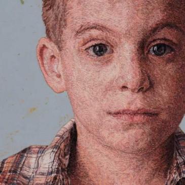 Refined embroidered portraits by Cayce Zavaglia