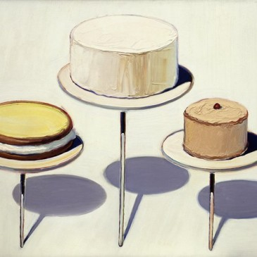 Wayne Thiebaud cake paintings