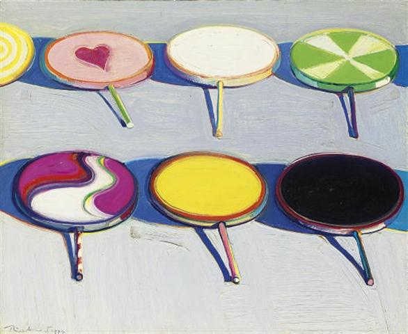 Wayne Thiebaud Seven Suckers 1970 oil on canvas