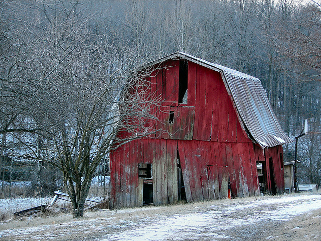 Winter Barnscape by CIndy47452