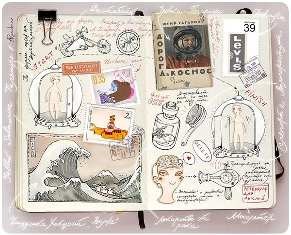 Moleskin Sketchbooks of Anna Rusakova