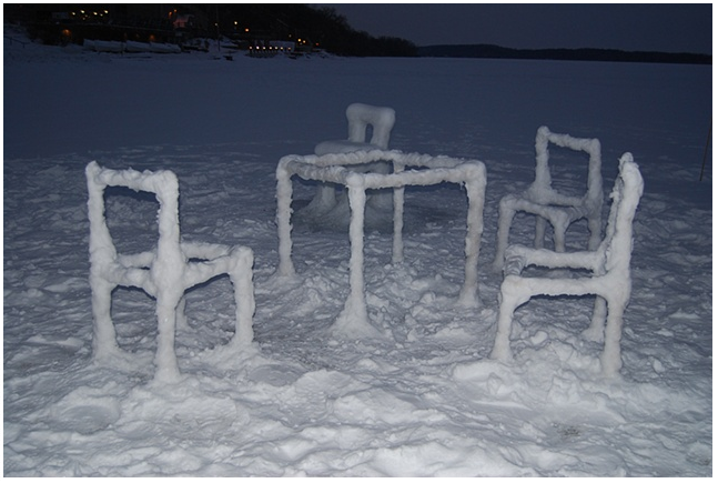 Delightful Ice U0026 Snow Furniture Raised From Lake Mendota(3) By Hongtao Zhou