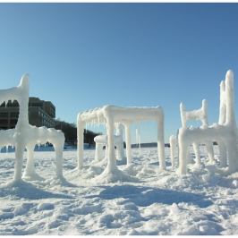 Snow Furniture and Snow Sculpture by Hongtao Zhou