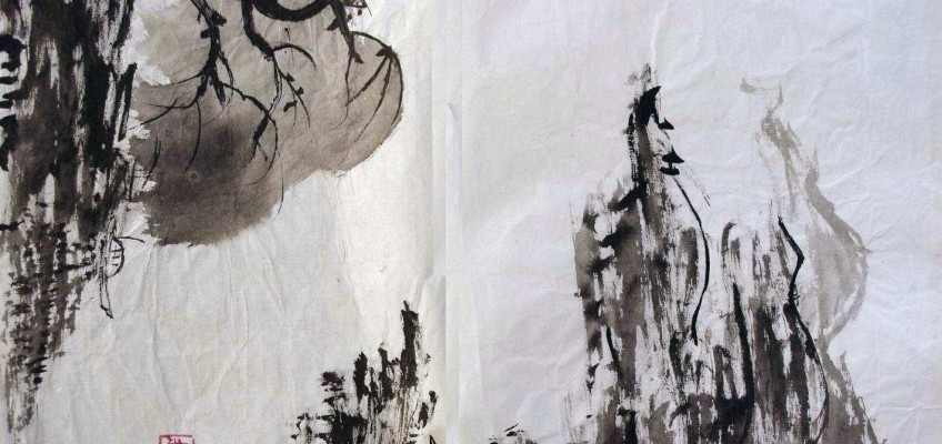 Ink brush painting(2) by Audrey Zhao