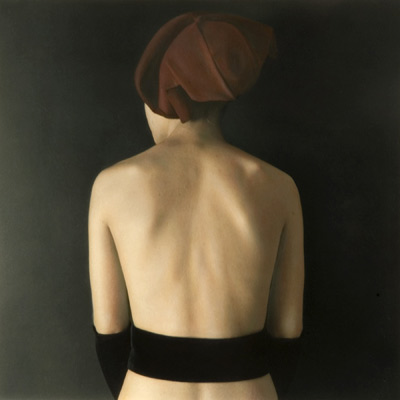 Red Hat Back 2002 hand painted gelatin silver print by Susan Fenton