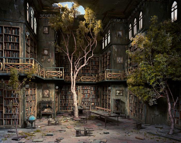 Library 2007 by Lori Nix