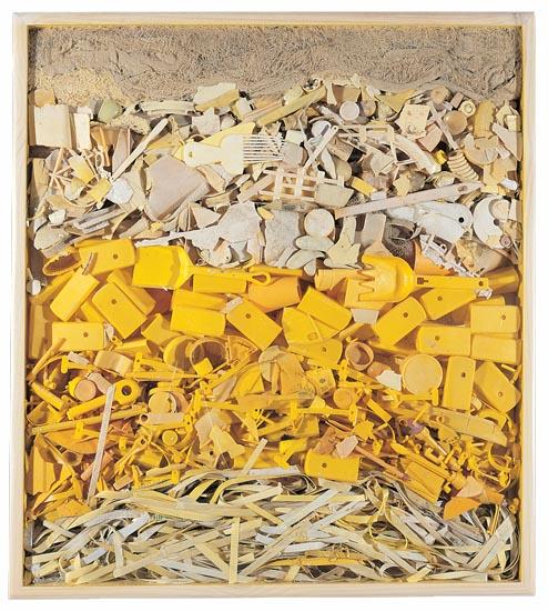 Yellow Plastic Panel by John Dahlsen