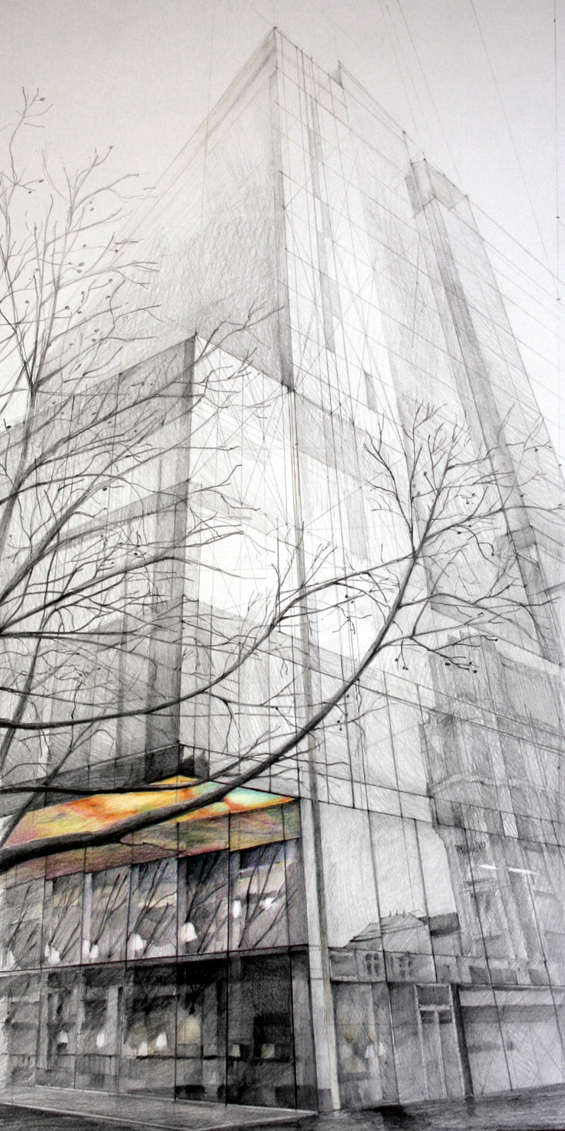 architect jean nouvel sofitel vienna 2 drawing by