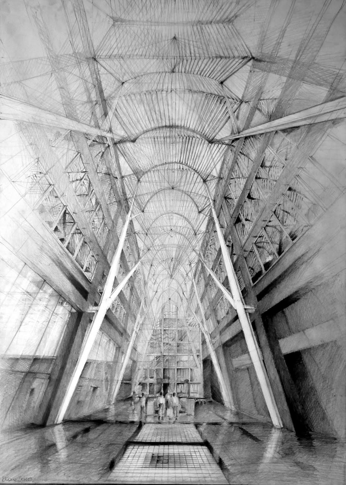 Architect santiago calatrava allen lambert galleria for Online architecture drawing
