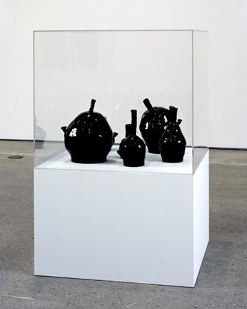 Black Bongs, glazed ceramic sculpture 2008 by David Shrigley
