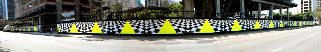 Brookfield Urban Art Gallery Installation Sao Paulo, Brazil by Tofer Chin