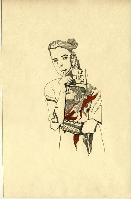 Red Illustration9 by Katia Sergeeva