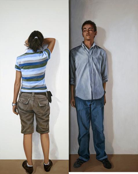 Saliente, Acrílico sobre lienzo (díptico), painting by Pablo Guzman, 2009