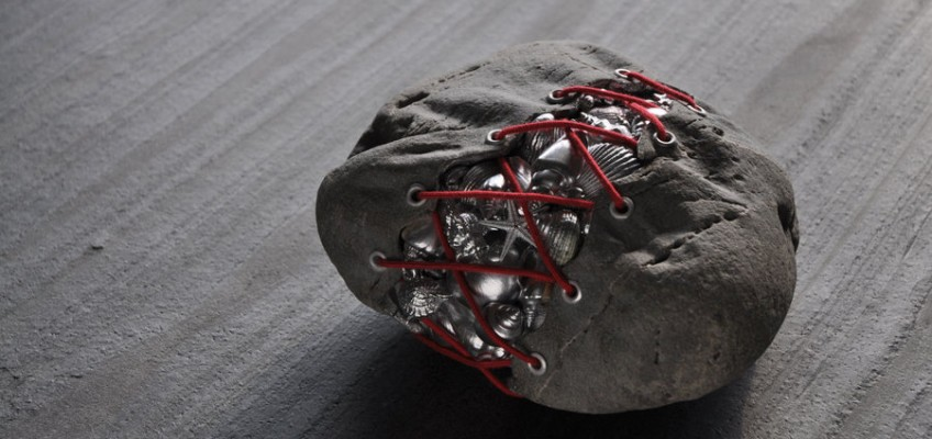 Before Liberation, stone sculpture by Jiyuseki (Hirotoshi Itoh)