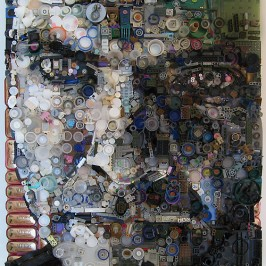 Recycled Goods Portraits by Zac Freeman