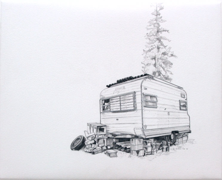 Old Timer, drawing by Kevin Cyr