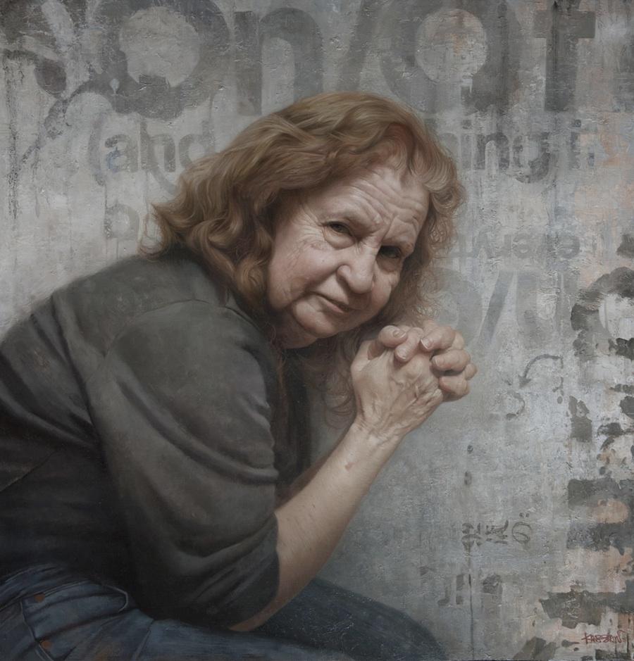 Roberta Joy Kassan, Oil on panel, painting by David Jon Kassan