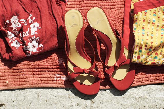 poppytalk red summer shoes by Jek in the box on Flickr.jpg