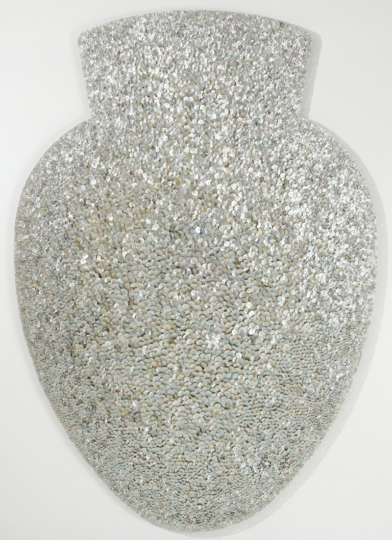 Unknown-Urn, Shell Buttons, Beads, Pins, by Ran Hwang 2010