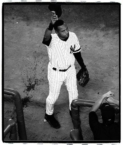 Derek Jeter, final Yankee Stadium Game, Bronx, NY, photograph by Jeff Colen