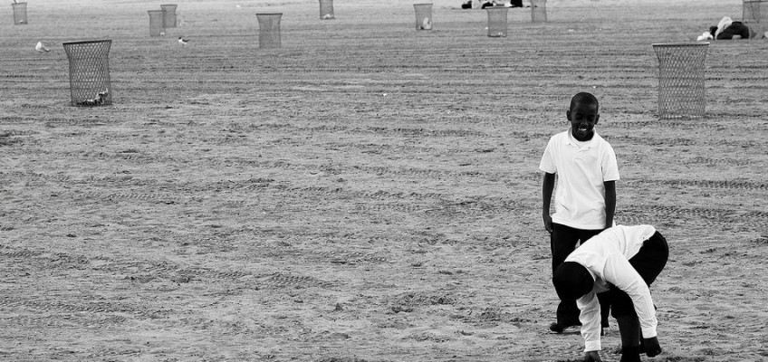 On the Beach, Coney Island, NY, photograph by Jeff Colen