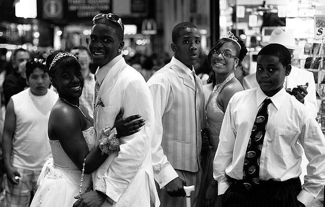 Prom Night in Times Squre New York, photograph by Jeff Colen