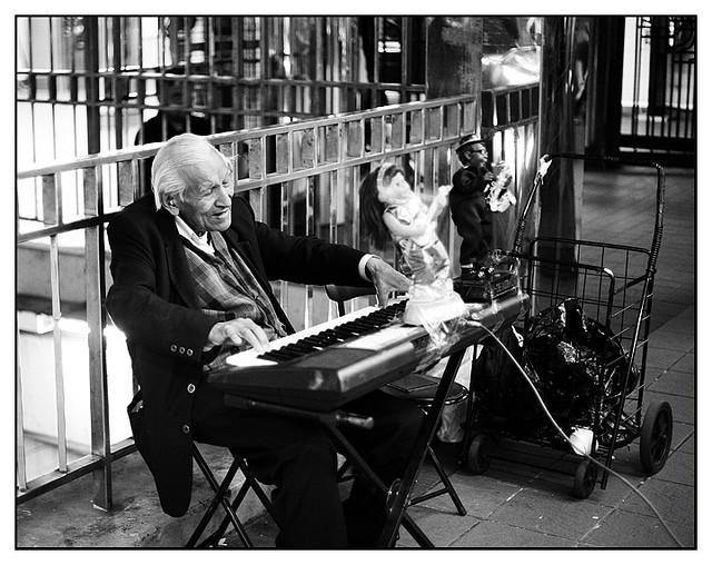Subway Piano Man, photograph by Jeff Colen