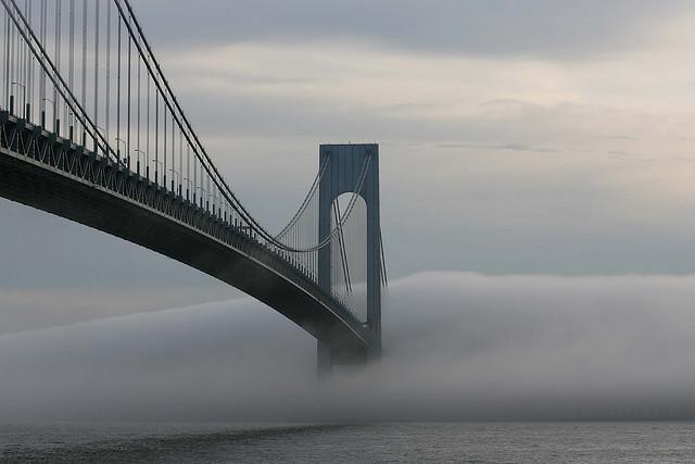 Verrazano Bridge Brooklyn and Staten Island Photograph by Jeff Colen