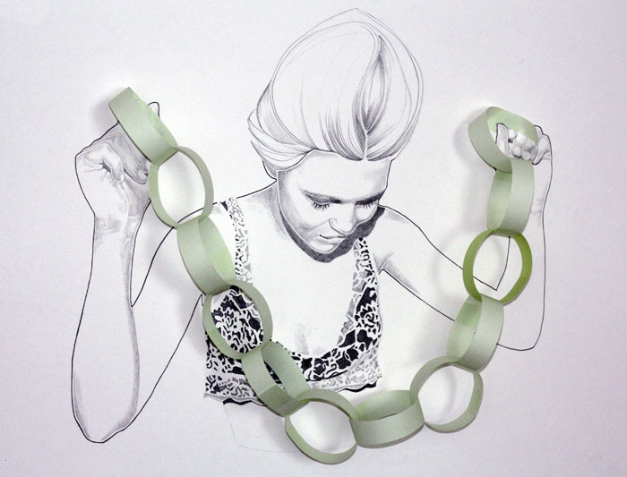 girl with paper rings