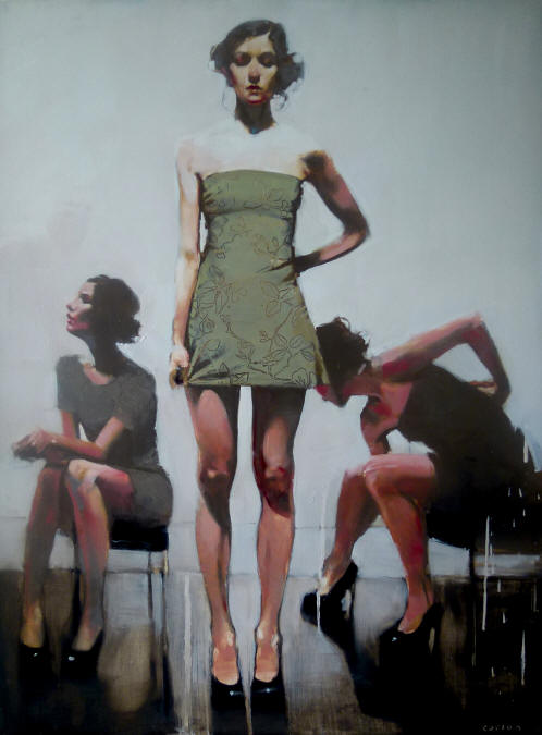 Backstage, oil on canvas by Michael Carson