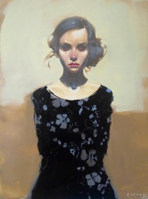 Barely Interested, oil on canvas by Michael Carson